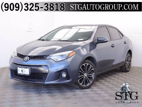 2014 Toyota Corolla for sale at STG Auto Group in Montclair CA