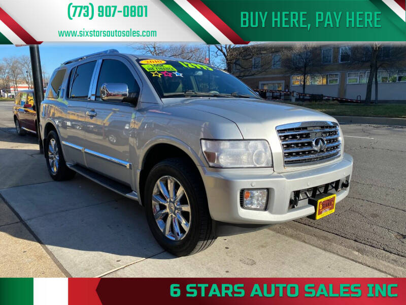 2010 Infiniti QX56 for sale at 6 STARS AUTO SALES INC in Chicago IL