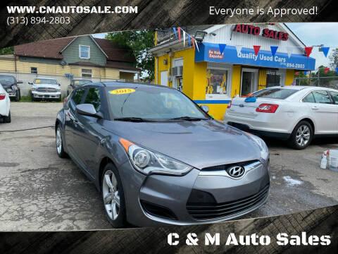 2015 Hyundai Veloster for sale at C & M Auto Sales in Detroit MI