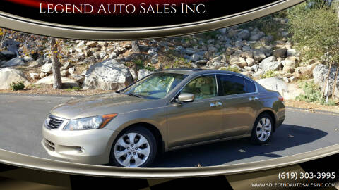 2008 Honda Accord for sale at Legend Auto Sales Inc in Lemon Grove CA