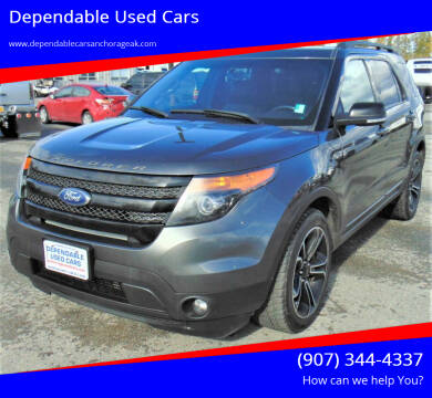 2015 Ford Explorer for sale at Dependable Used Cars in Anchorage AK