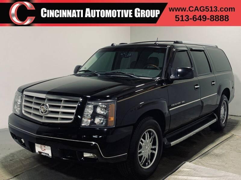 2005 Cadillac Escalade ESV for sale at Cincinnati Automotive Group in Lebanon OH