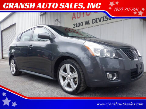 2010 Pontiac Vibe for sale at CRANSH AUTO SALES, INC in Arlington TX
