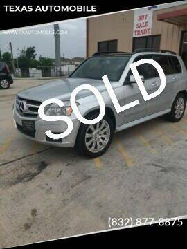 2010 Mercedes-Benz GLK for sale at TEXAS AUTOMOBILE in Houston TX