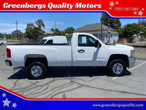 2007 Chevrolet Silverado 2500HD for sale at Greenbergs Quality Motors in Napa CA