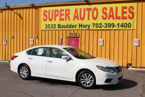 2016 Nissan Altima for sale at Super Auto Sales in Las Vegas NV