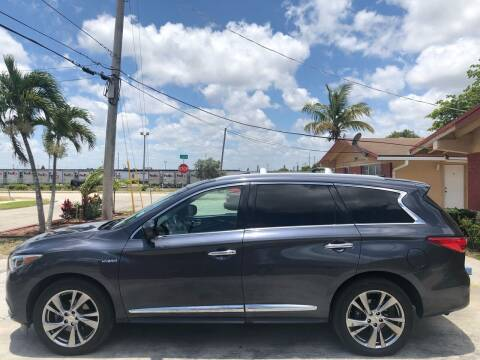 2014 Infiniti QX60 Hybrid for sale at Eden Cars Inc in Hollywood FL