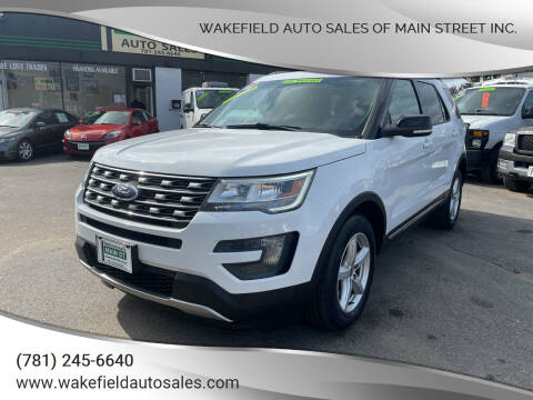 2016 Ford Explorer for sale at Wakefield Auto Sales of Main Street Inc. in Wakefield MA