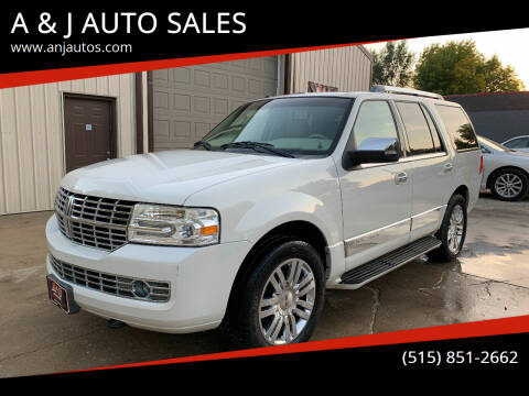 2008 Lincoln Navigator for sale at A & J AUTO SALES in Eagle Grove IA