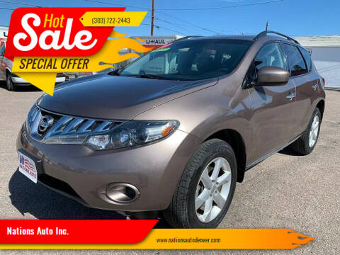 2009 Nissan Murano for sale at Nations Auto Inc. in Denver CO
