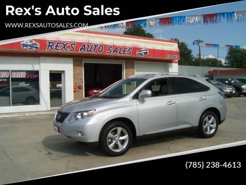 2010 Lexus RX 350 for sale at Rex's Auto Sales in Junction City KS