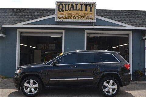 2012 Jeep Grand Cherokee for sale at Quality Pre-Owned Automotive in Cuba MO