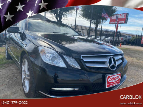 2012 Mercedes-Benz E-Class for sale at CARBLOK in Lewisville TX