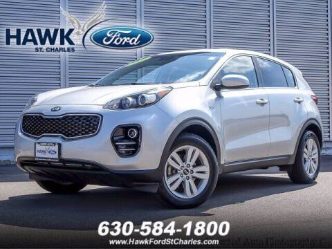2017 Kia Sportage for sale at Hawk Ford of St. Charles in Saint Charles IL
