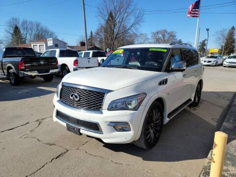 2016 Infiniti QX80 for sale at Clare Auto Sales, Inc. in Clare MI