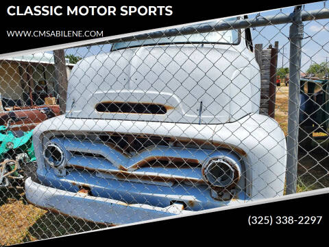 1955 Ford F-350 for sale at CLASSIC MOTOR SPORTS in Winters TX