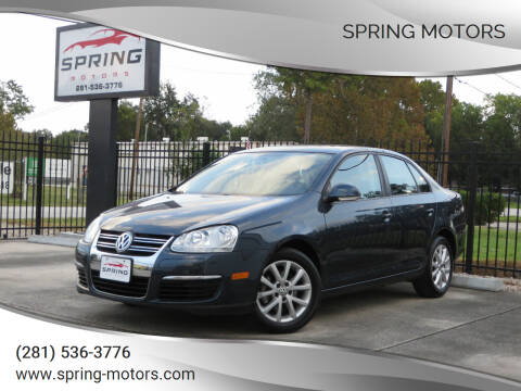 2010 Volkswagen Jetta for sale at Spring Motors in Spring TX