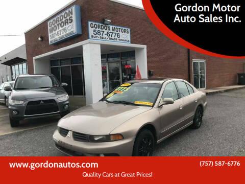 2002 Mitsubishi Galant for sale at Gordon Motor Auto Sales Inc. in Norfolk VA