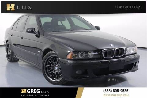 2002 BMW M5 for sale at HGREG LUX EXCLUSIVE MOTORCARS in Pompano Beach FL