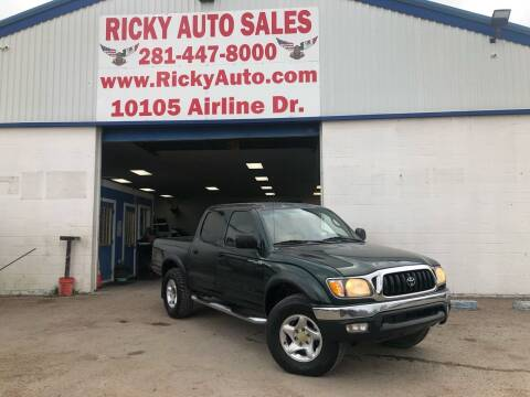 2002 Toyota Tacoma for sale at Ricky Auto Sales in Houston TX