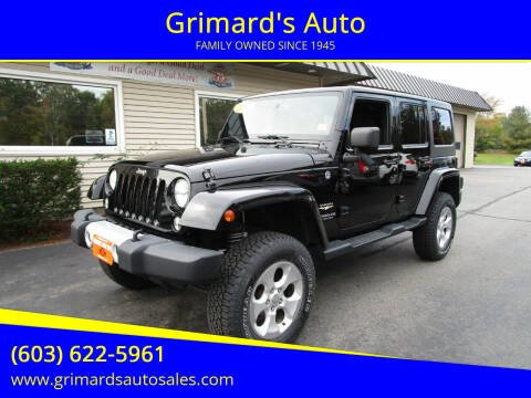 2014 Jeep Wrangler Unlimited for sale at Grimard's Auto in Hooksett NH