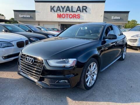 2015 Audi A4 for sale at KAYALAR MOTORS in Houston TX