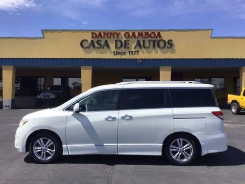 2013 Nissan Quest for sale at CASA DE AUTOS, INC in Las Cruces NM