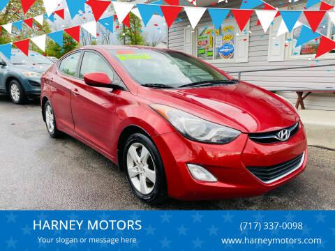 2012 Hyundai Elantra for sale at HARNEY MOTORS in Gettysburg PA