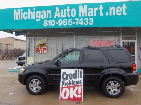 2005 Ford Escape for sale at Michigan Auto Mart in Port Huron MI