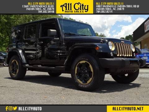 2014 Jeep Wrangler Unlimited for sale at All City Auto Sales in Indian Trail NC