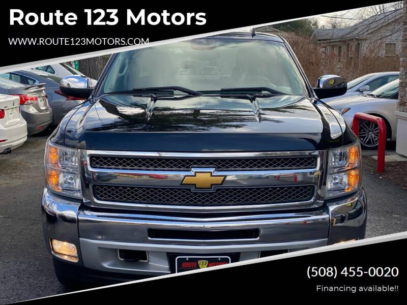 2013 Chevrolet Silverado 1500 for sale at Route 123 Motors in Norton MA
