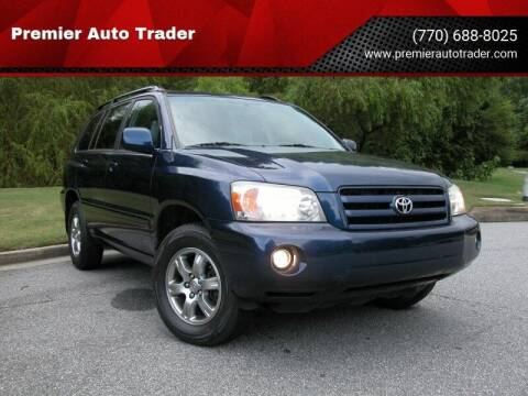 2005 Toyota Highlander for sale at Premier Auto Trader in Alpharetta GA