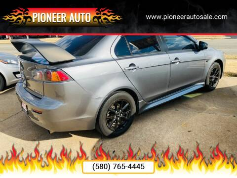 2017 Mitsubishi Lancer for sale at Pioneer Auto in Ponca City OK