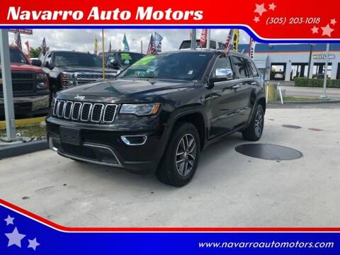 2017 Jeep Grand Cherokee for sale at Navarro Auto Motors in Hialeah FL