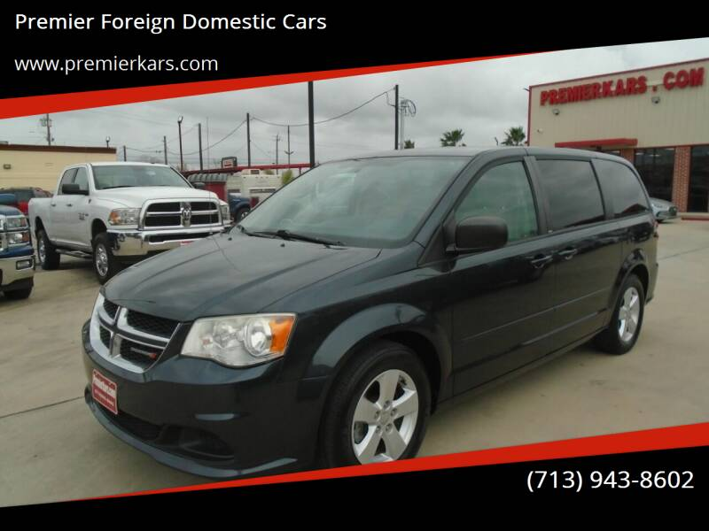 2014 Dodge Grand Caravan for sale at Premier Foreign Domestic Cars in Houston TX