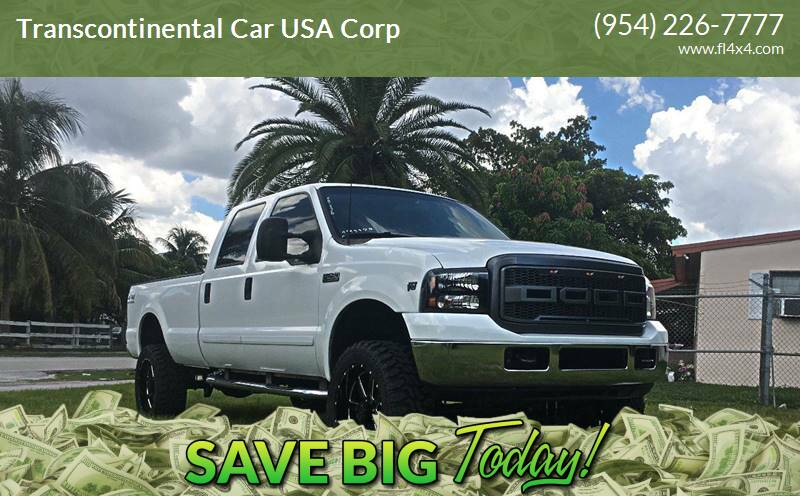 2002 Ford F-250 Super Duty for sale at Transcontinental Car USA Corp in Fort Lauderdale FL