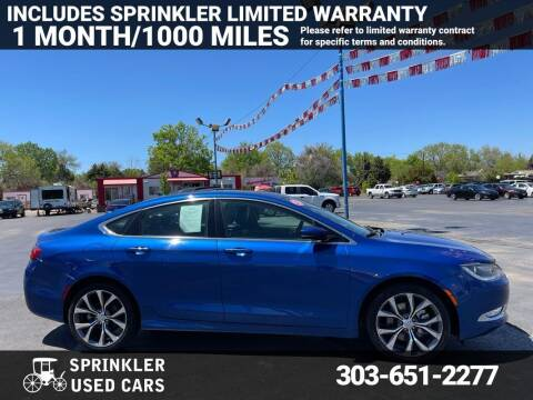 2015 Chrysler 200 for sale at Sprinkler Used Cars in Longmont CO