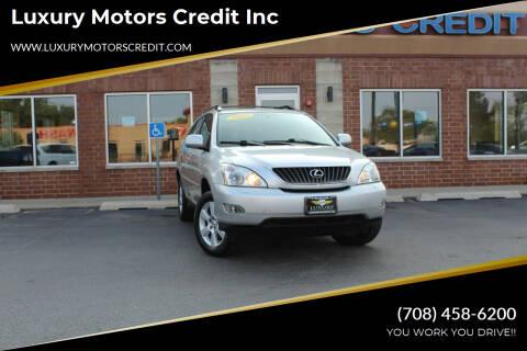 2009 Lexus RX 350 for sale at Luxury Motors Credit Inc in Bridgeview IL
