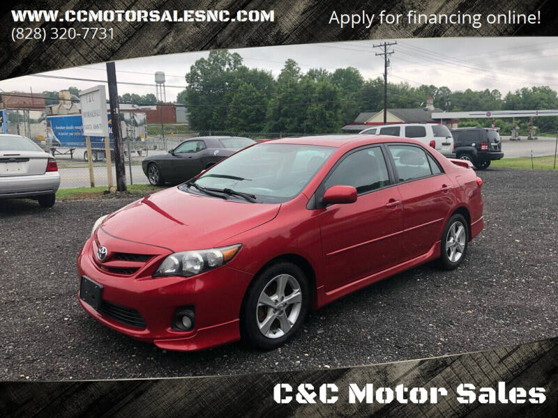 2011 Toyota Corolla for sale at C&C Motor Sales LLC in Hudson NC