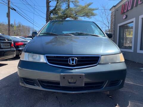 2003 Honda Odyssey for sale at Route 123 Motors in Norton MA