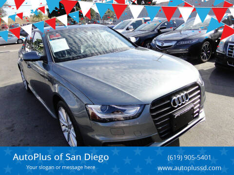 2016 Audi A4 for sale at AutoPlus of San Diego in Spring Valley CA