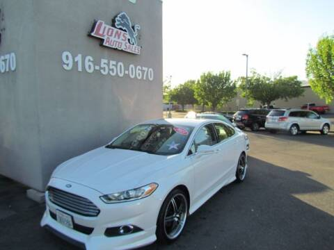 2013 Ford Fusion for sale at LIONS AUTO SALES in Sacramento CA