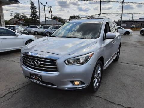 2013 Infiniti JX35 for sale at TOP YIN MOTORS in Mount Prospect IL