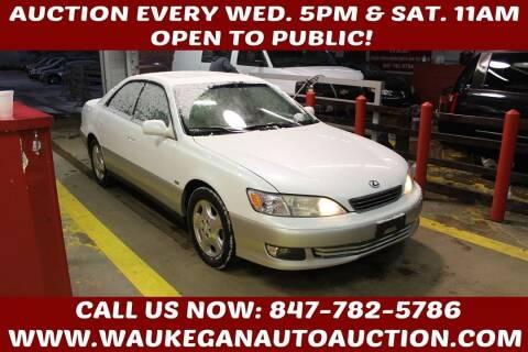2000 Lexus ES 300 for sale at Waukegan Auto Auction in Waukegan IL