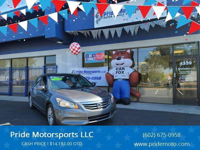 2011 Honda Accord for sale at Pride Motorsports LLC in Phoenix AZ
