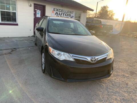 2012 Toyota Camry for sale at Excellent Autos of Orlando in Orlando FL