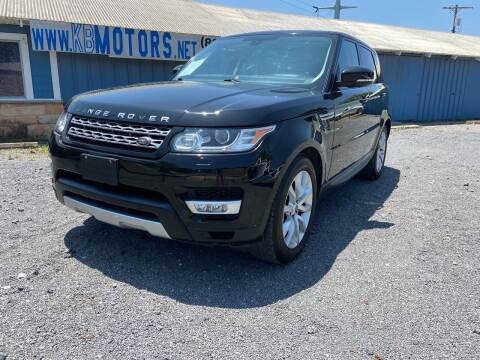 2014 Land Rover Range Rover Sport for sale at K & B Motors LLC in Mc Queeney TX