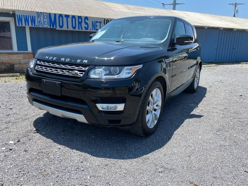 2014 Land Rover Range Rover Sport for sale at K & B Motors LLC in Mc Queeney TX