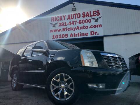 2011 Cadillac Escalade for sale at Ricky Auto Sales in Houston TX