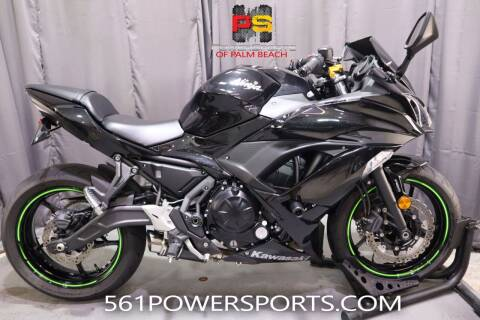 2019 Kawasaki Ninja 650R for sale at Powersports of Palm Beach in Hollywood FL